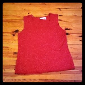 L EUC red glitter tank top